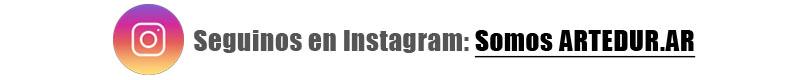 Seguinos en Instagram: Somos ARTEDUR.AR